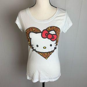 Hello Kitty Animal Print Baby Doll Tee-L